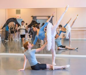 Swan Lake Rehearsal: Prince and Odette